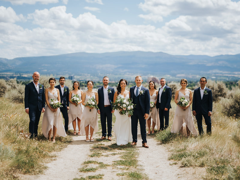 Rustic Elegant Blush Pink White Cream Roses Thistles Greenery Garland Boutonniere Corsage Bouquet Arrangement Backdrop Hotel Eldorado Outdoors Barnett Photography Kelowna Okanagan Wedding Ceremony Reception Bride Groom Bridesmaid Groomsman Florist Flowers Floral